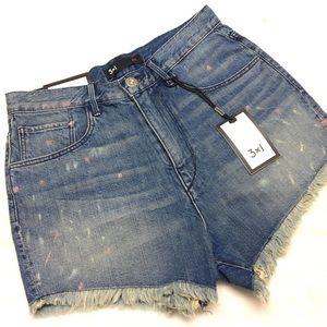 3x1 | Hi Rise Cutoff Shorts 26